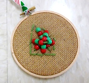 mini tapestry ornaments