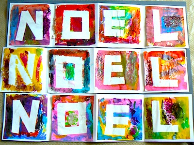 Paint And Tape Christmas Art. Paint And Tape Noel Banner