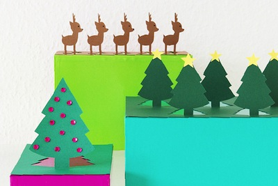 christmas pop-up paper craft