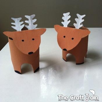 Cardboard Tube Reindeer Craft