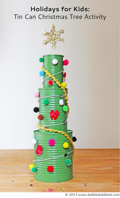 Tin Can Christmas Tree Craft For Kids