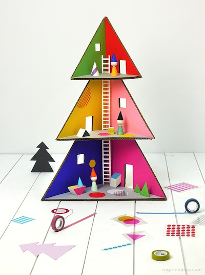 christmas tree doll house diy tutorial