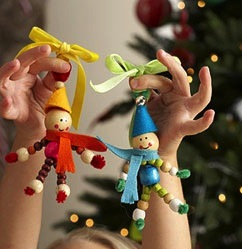bead elf ornament for kids to make
