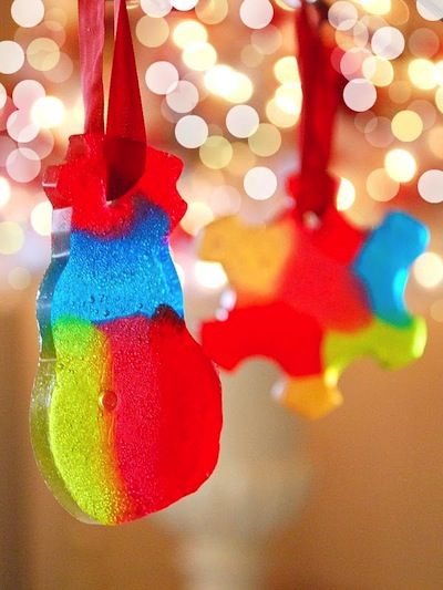 melted hard candy ornaments