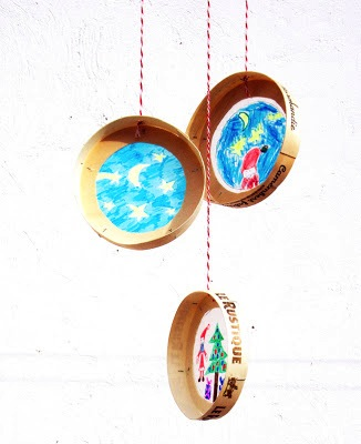 cheese box sun catcher ornaments kids can make