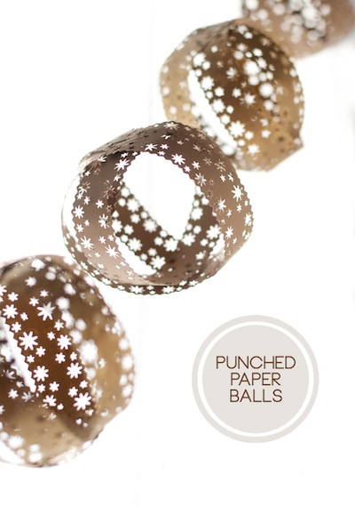 punched paper strip ball ornaments