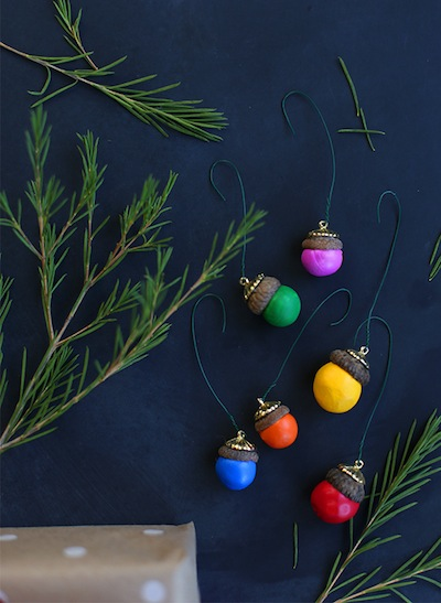 painted acorn ornaments