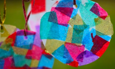 tissue paper ornaments for kids to make