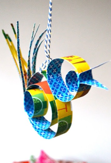 scrap paper quilled ornaments kids can make