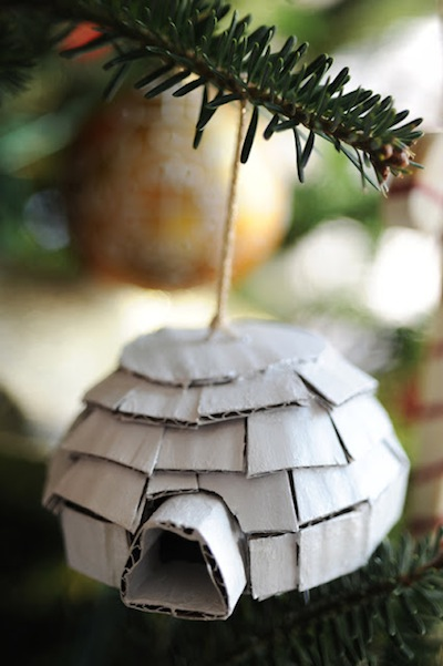 cardboard igloo ornament