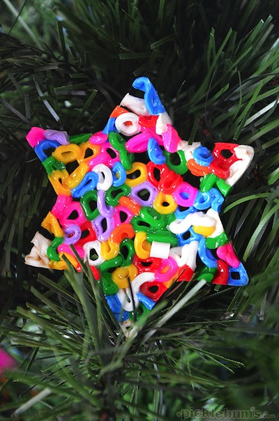 Perler Hama melty bead ornaments for kids to make