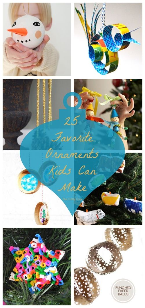25 Favorite Ornaments Kids Can Make at The Crafty Crow