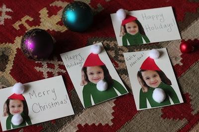 elf selfie holiday cards for kids to make