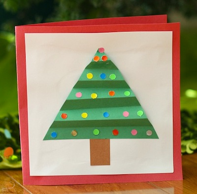 Christmas Ideas For Kids Drawing.Christmas Tree Cards For Kids To Make Things To Make And