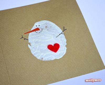 Potato Print Holiday Cards