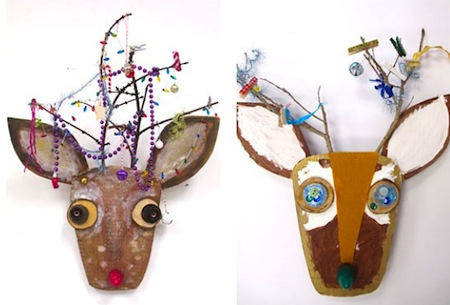 upcycled christmas reindeer craft for kids
