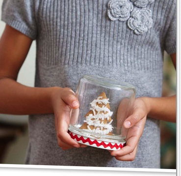 snowglobe cookie jar