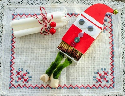matchbox elf gift kids can make