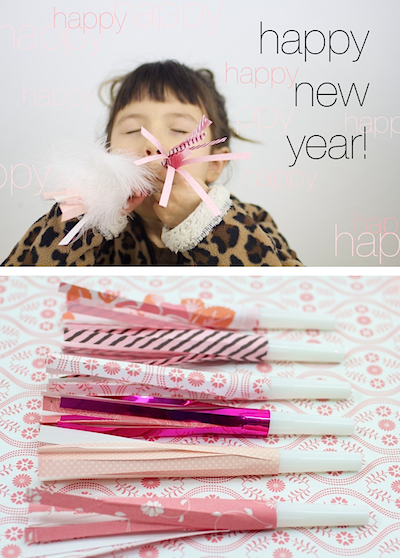 diy party blowers new year's eve craft