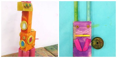 scrap wood sculptures kids can make