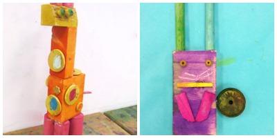 scrap wood sculptures kids can make