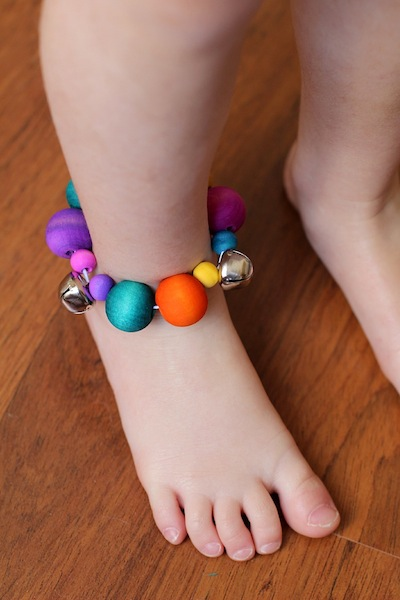 Two-daloo jingle bell ankle bracelets