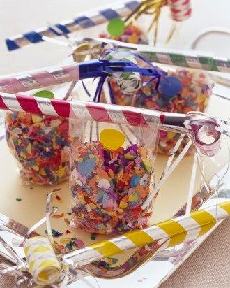 Martha Steward new year's celebration favor bags
