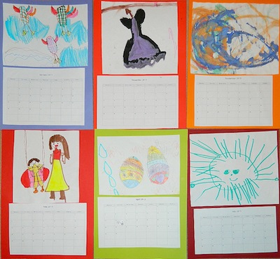 Iva Alex homemade children's art calendar