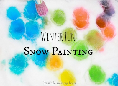 snow painting indoors