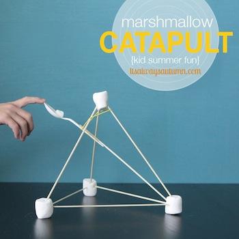 easy marshmallow catapults
