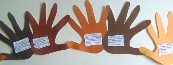 Martin Luther King Jr. Day hand print banner