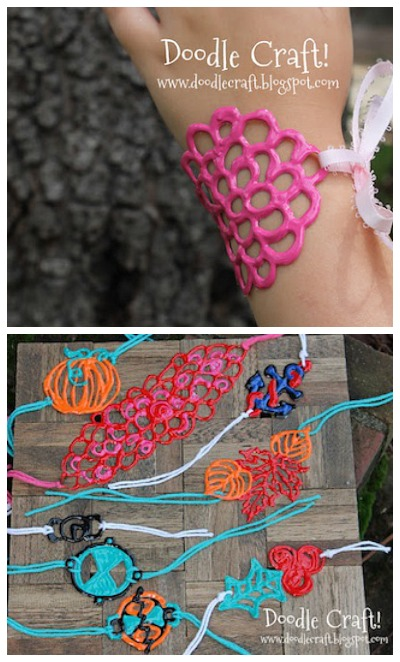 puffy paint bracelets