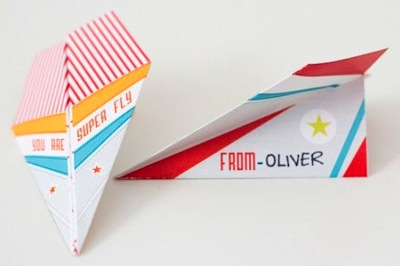 paper airplane valentine printable for kids