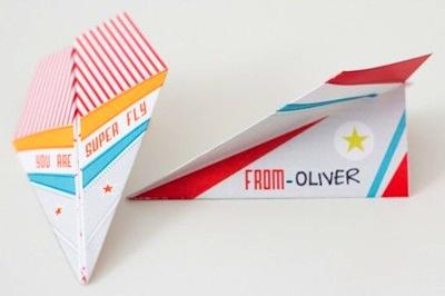 paper airplane valentine printable for kids