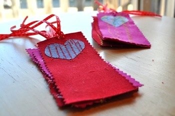 valentine bookmarks for kids to sew