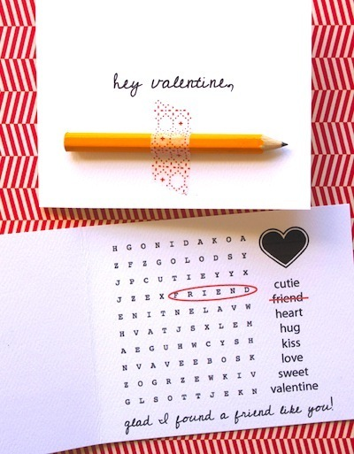 word search valentine cards for kids