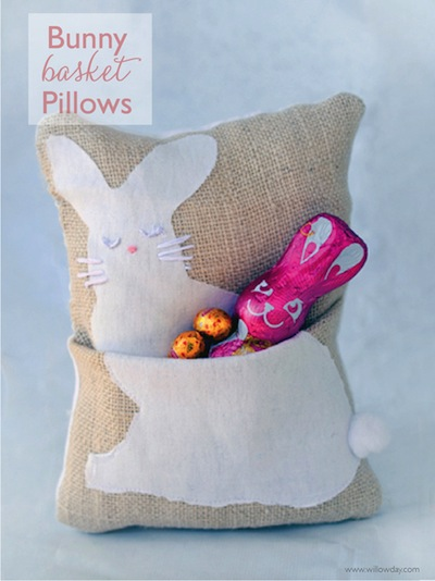 bunny basket pillow tutorial
