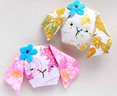 mini scented bunny pillow Easter craft