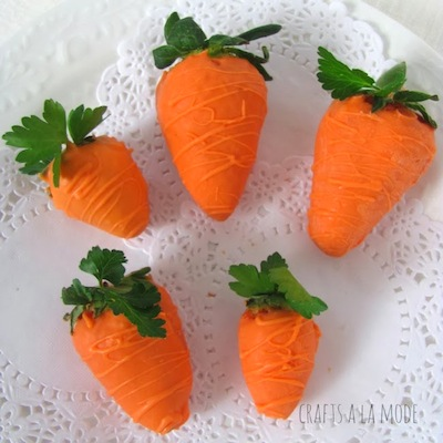 chocolate dipped strawberries look like carrots