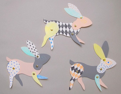 articulated paper bunny craft