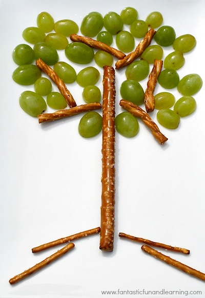 Fantastic Fun and Learning tree snack for kids