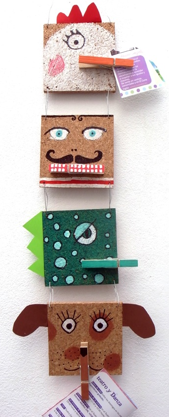 cork tile memo holders homemade gift idea