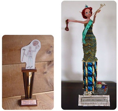 recycled customized trophy gift for mothers and fathers day