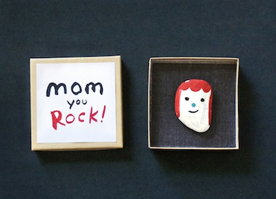 rock portrait for mom for mother's day