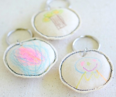 kid art key chain mother's day craft