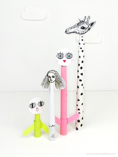 homemade telescopic paper toys