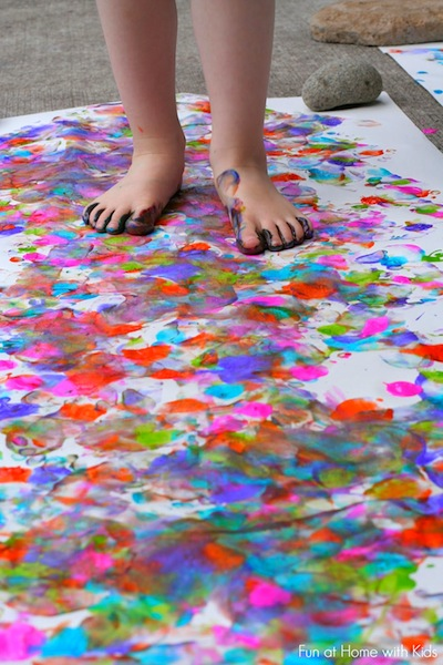 Painting With Your Feet Things To Make And Do Crafts
