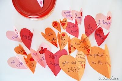 jar of hearts Father's Day kids craft