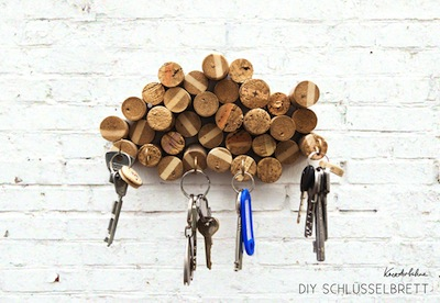 wine cork key holder homemade gift for Father's Day