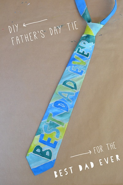 painted tie Father's Day kids craft